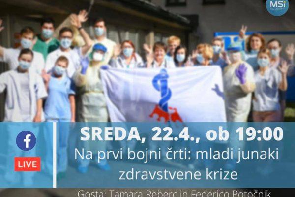 Na prvi bojni črti: mladi junaki zdravstvene krize